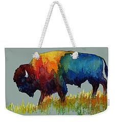 American Buffalo IIi Weekender Tote Bag by Hailey E Herrera