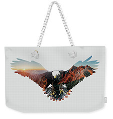 American Eagle Weekender Tote Bag by John Beckley