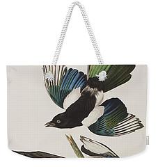 American Magpie Weekender Tote Bag by John James Audubon
