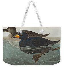 American Scoter Duck Weekender Tote Bag by John James Audubon