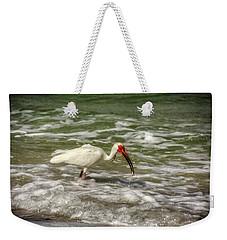 American White Ibis Weekender Tote Bag by Chrystal Mimbs