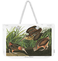 American Woodcock Weekender Tote Bag by MotionAge Designs