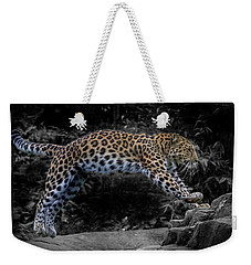 Amur Leopard On The Hunt Weekender Tote Bag by Martin Newman