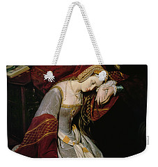 Anne Boleyn In The Tower Weekender Tote Bag by Edouard Cibot