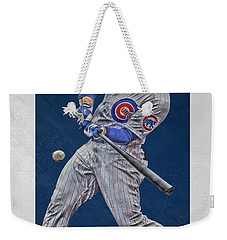 Anthony Rizzo Chicago Cubs Art 1 Weekender Tote Bag by Joe Hamilton