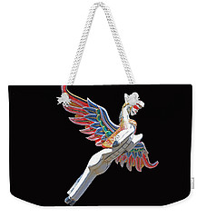Antique Winged Pegasus Weekender Tote Bag by Donna Kennedy