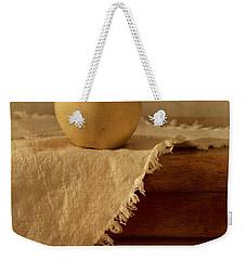 Apple Pear On A Table Weekender Tote Bag by Priska Wettstein