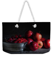 Apples And Berries Panoramic Weekender Tote Bag by Tom Mc Nemar