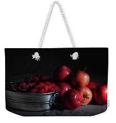 Apples And Berries Panoramic Weekender Tote Bag by Tom Mc Nemar