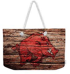 Arkansas Razorbacks 1a Weekender Tote Bag by Brian Reaves