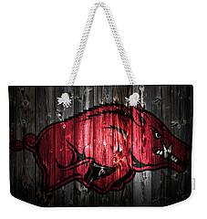 Arkansas Razorbacks 2a Weekender Tote Bag by Brian Reaves