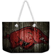 Arkansas Razorbacks 2b Weekender Tote Bag by Brian Reaves