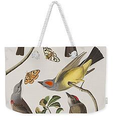 Arkansaw Flycatcher Swallow-tailed Flycatcher Says Flycatcher Weekender Tote Bag by John James Audubon