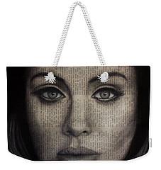 Art In The News 72-adele 25 Weekender Tote Bag by Michael Cross