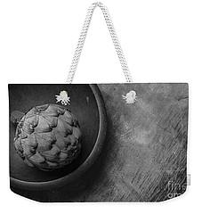 Artichoke Black And White Still Life Three Weekender Tote Bag by Edward Fielding