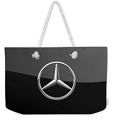 Mercedes-benz - 3d Badge On Black Weekender Tote Bag by Serge Averbukh