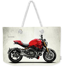 Ducati Monster Weekender Tote Bag by Mark Rogan