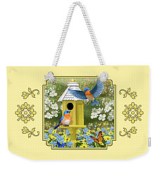 Bluebird Garden Home Weekender Tote Bag by Crista Forest