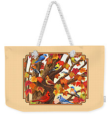 Maple Tree Marvel - Bird Painting Weekender Tote Bag by Crista Forest