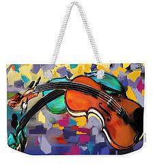 Violins Weekender Tote Bag by Melanie D