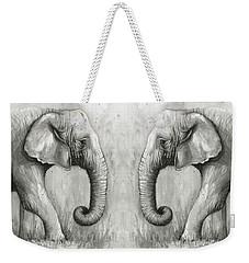 Elephant Watercolor Weekender Tote Bag by Olga Shvartsur