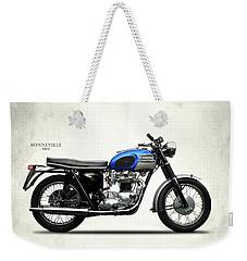 Triumph Bonneville T120 1965 Weekender Tote Bag by Mark Rogan