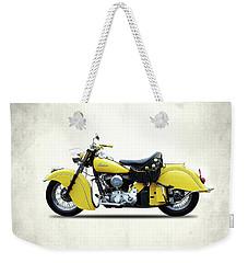 Indian Chief 1951 Weekender Tote Bag by Mark Rogan