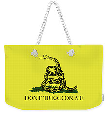 Gadsden Dont Tread On Me Flag Authentic Version Weekender Tote Bag by Bruce Stanfield