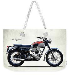 Bonneville T120 1962 Weekender Tote Bag by Mark Rogan