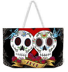 Love Skulls II Weekender Tote Bag by Tammy Wetzel