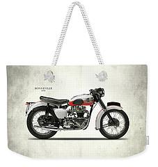 Triumph Bonneville 1959 Weekender Tote Bag by Mark Rogan