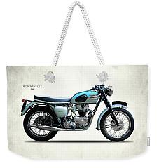 Triumph Bonneville 1961 Weekender Tote Bag by Mark Rogan