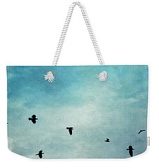 As The Ravens Fly Weekender Tote Bag by Priska Wettstein