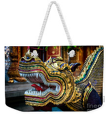Asian Temple Dragon Weekender Tote Bag by Adrian Evans