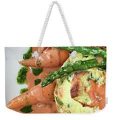 Asparagus Dish Weekender Tote Bag by Tom Gowanlock