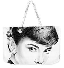 Audrey Hepburn Weekender Tote Bag by Greg Joens