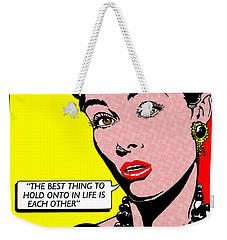 Audrey Hepburn Weekender Tote Bag by John Reilly