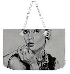 Audrey Hepburn Weekender Tote Bag by Ylli Haruni
