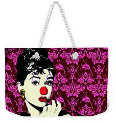 Audrey On Purple Weekender Tote Bag by Jason Tricktop Matthews