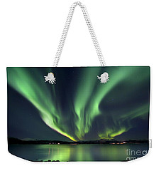 Aurora Borealis Over Tjeldsundet Weekender Tote Bag by Arild Heitmann