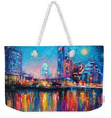 Austin Art Impressionistic Skyline Painting #2 Weekender Tote Bag by Svetlana Novikova