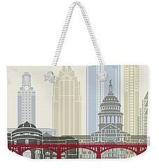 Austin Skyline Poster Weekender Tote Bag by Pablo Romero
