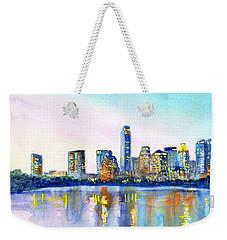 Austin Texas Skyline Weekender Tote Bag by Carlin Blahnik