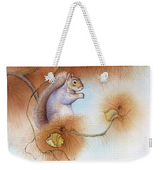 Autumn Come Softly Squirrel Weekender Tote Bag by Tracy Herrmann