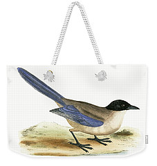 Azure Winged Magpie Weekender Tote Bag by English School