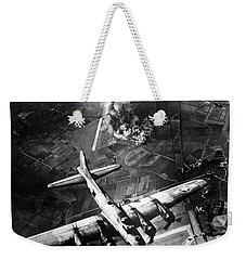 B-17 Bomber Over Germany  Weekender Tote Bag by War Is Hell Store