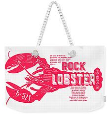 B-52s Rock Lobster Lyric Poster Weekender Tote Bag by Edward Fielding