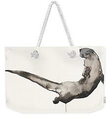 Back Awash   Otter Weekender Tote Bag by Mark Adlington