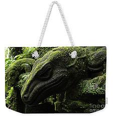 Bali Indonesia Lizard Sculpture Weekender Tote Bag by Bob Christopher