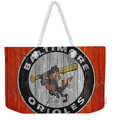 Baltimore Orioles Graphic Barn Door Weekender Tote Bag by Dan Sproul